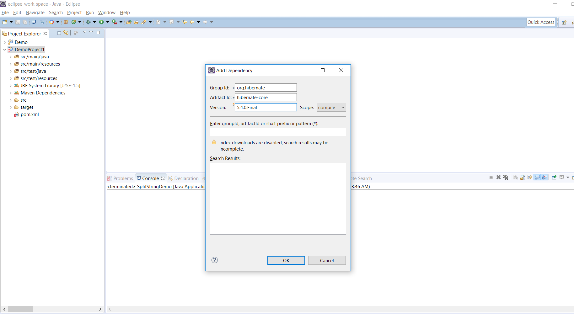 How to add Maven dependencies via Eclipse - LearnJava